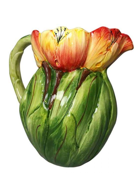 Ceramiche D'Arte Ceramic 'Tulips' Pitcher