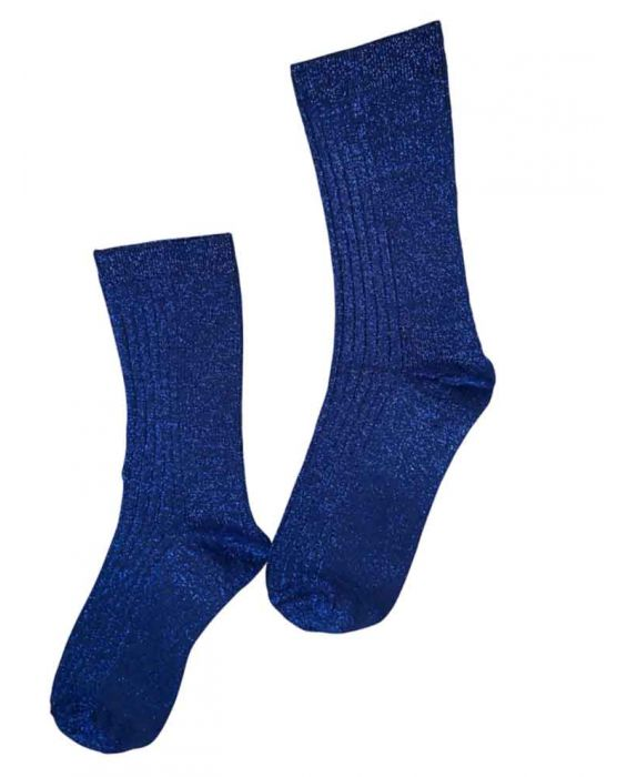 Alto Milano Women Short Socks- Royal Blue