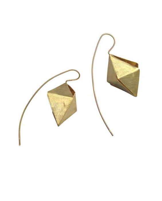 The Craftshop 'Cone' Sterling Silver Earrings - Gold-Plated