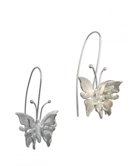 The Craftshop 'Butterfly' Sterling Silver Earrings - Silver