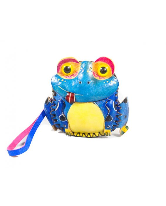 Remscollection Frog Shaped Leather Purse