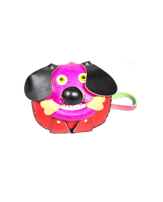 Remscollection Dog with a Bone Purse -Red/Pink