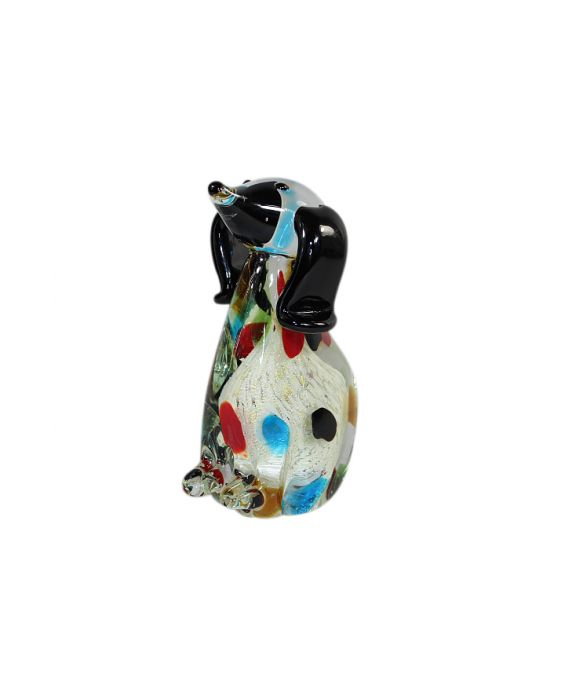 Mirho Glass Dog with Dots