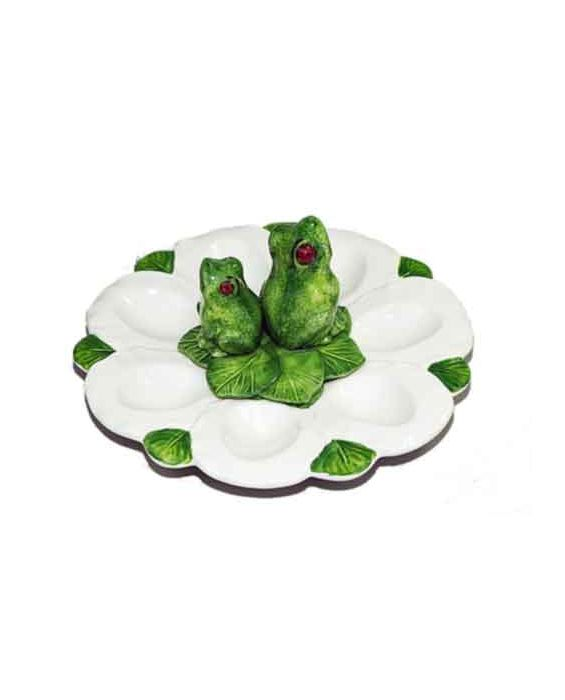 Mastercraft 'frog' Ceramic Egg Holder