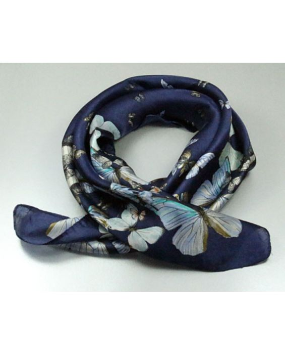 ARTICLES DE PARIS - 'BUTTERFLY PRINT' SCARF - NAVY BLUE