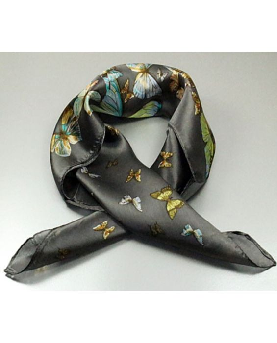 ARTICLES DE PARIS - 'BUTTERFLY PRINT' SCARF - BOTTLE GREEN