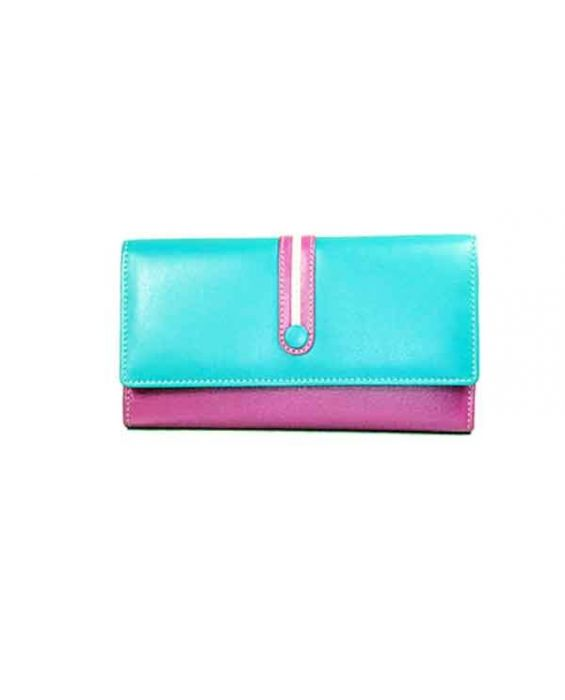 GOLUNSKI LEATHER WALLET - MAGENTA MULTI