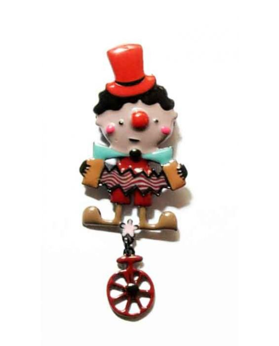 ARTICLES DE PARIS 'CLOWN' BROOCH - RED