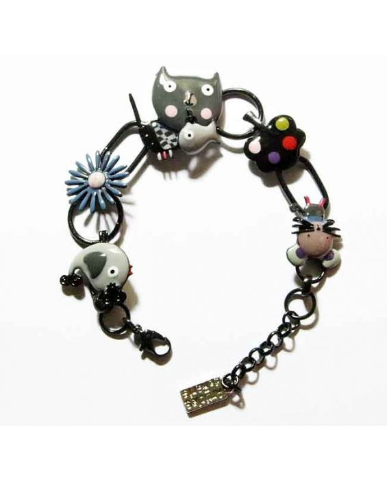ARTICLES DE PARIS 'CAT HEAD' BRACELET - GREY