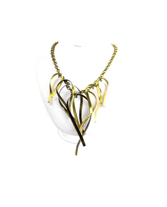 ExNovo Bijoux Chain Brass Necklace - Gold