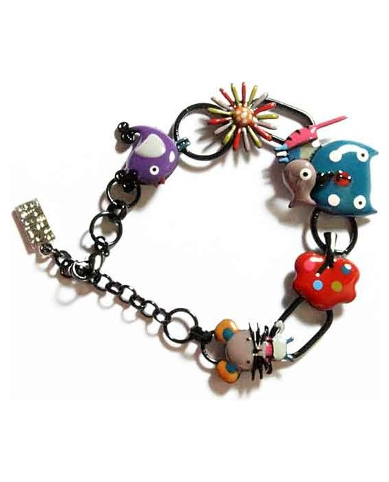 ARTICLES DE PARIS 'CAT HEAD' BRACELET TURQUOISE