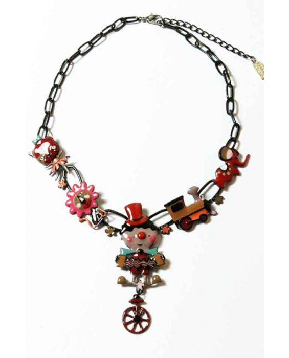 ARTICLES DE PARIS 'CLOWN' NECKLACE - RED