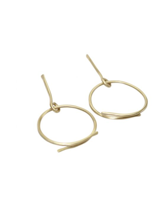 ExNovo Bijoux Stick and Hoop Brass Earrings - Gold