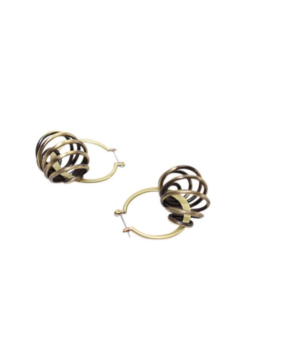 ExNovo Bijoux Hoop Earrings - Brass