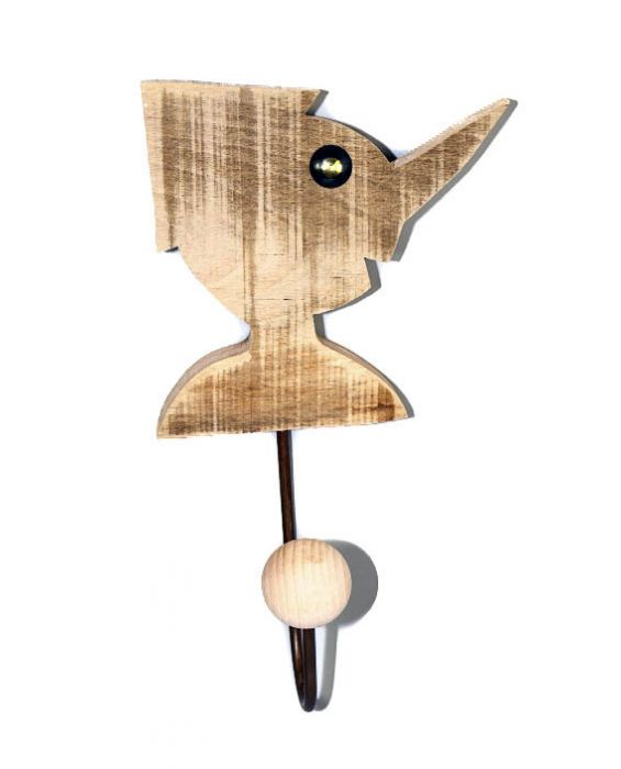 Centro del Mutamento 'Pinnochio' Wooden Clothes Hanger - Natural Wood
