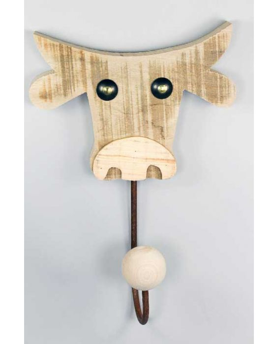 Centro del Mutamento 'Cow' Wooden Clothes Hanger - Natural Wood