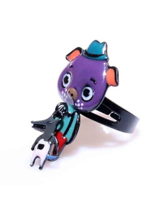 ARTICLES DE PARIS - 'PIG' RING - PURPLE