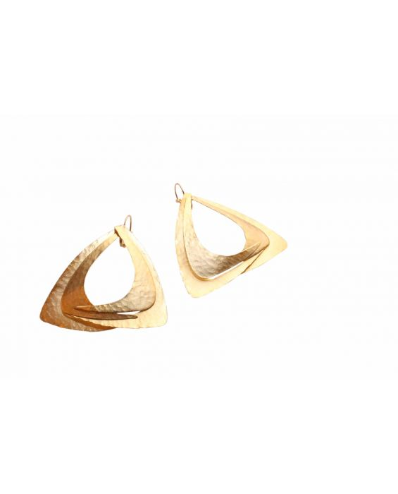 FOBE - 'TRIANGLE' EARRINGS - BRONZE