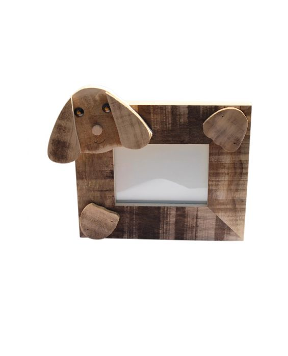 Centro del Mutamento Dog Picture Frame - Natural Wood