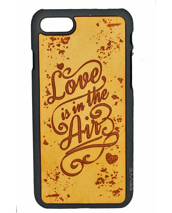 Eevye 'Love in the Air' Leather Phone Case - Brown