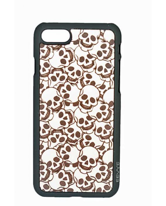 Eevye 'Little Skull' Leather Phone Case - Grey