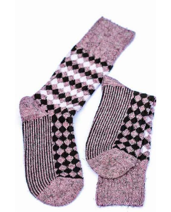 Alto Milano Women 'Illusion' Socks - Salmone