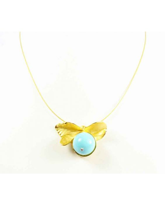 FOBE - Turquoise Ball Necklace