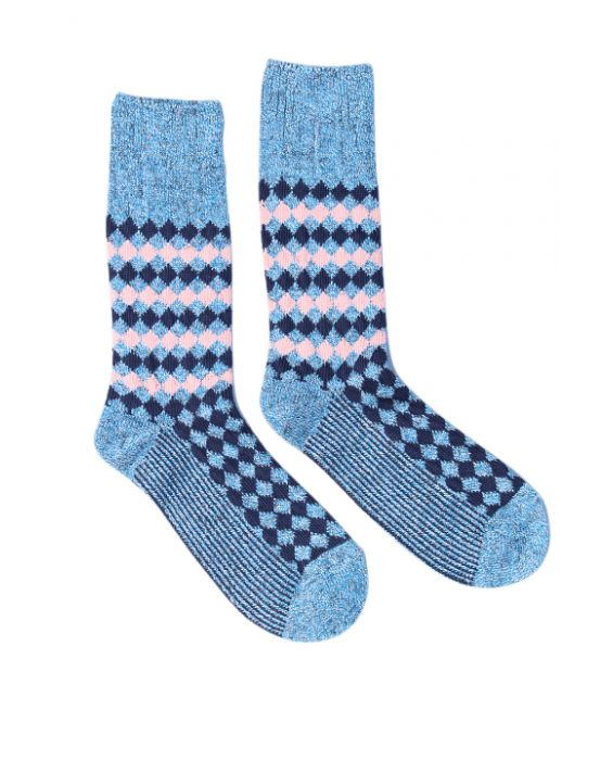 Alto Milano Women 'Illusion' Socks - Avio