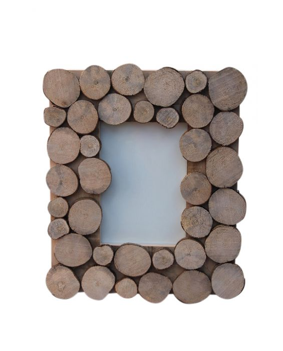 Centro Del Mutamento 'Circle' Picture Frame - Natural Wood