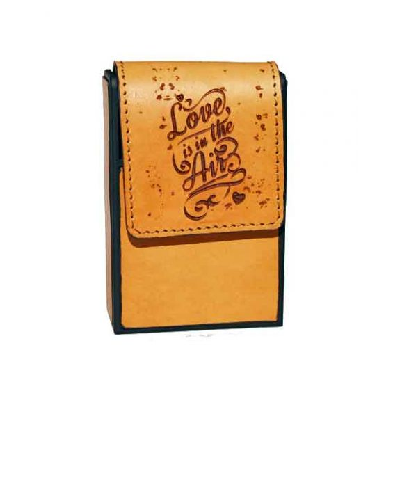 Eevye Leather 'Love is in the Air' Cigarette Case - Brown