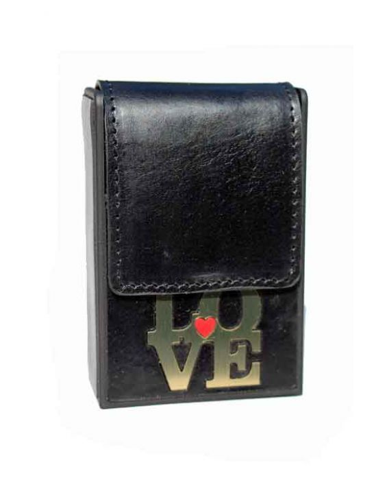 Eevye Leather 'Love' Cigarette Case - Black