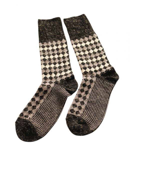 Alto Milano Women 'Illusion' Socks - Nero