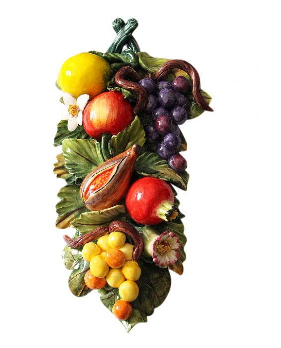 Ceramiche d'Arte Large Ceramic Fruit Wall Plaque