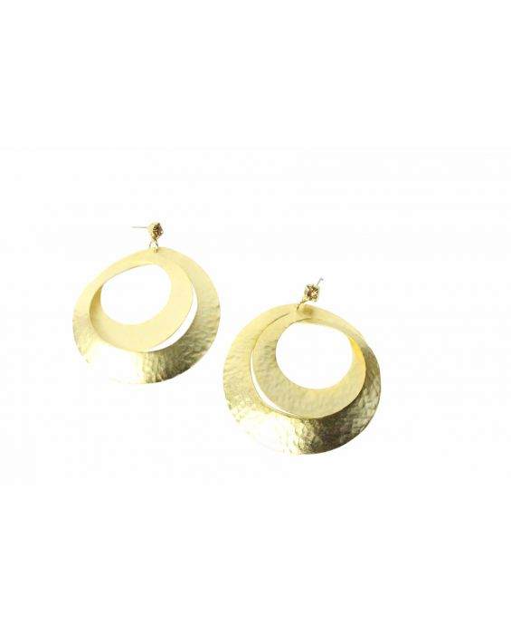 FOBE - CIRCLE EARRINGS - BRONZE