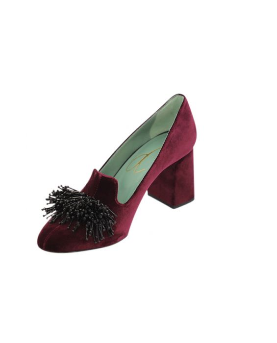 Paola D'Arcano Velvet Pumps - Purple