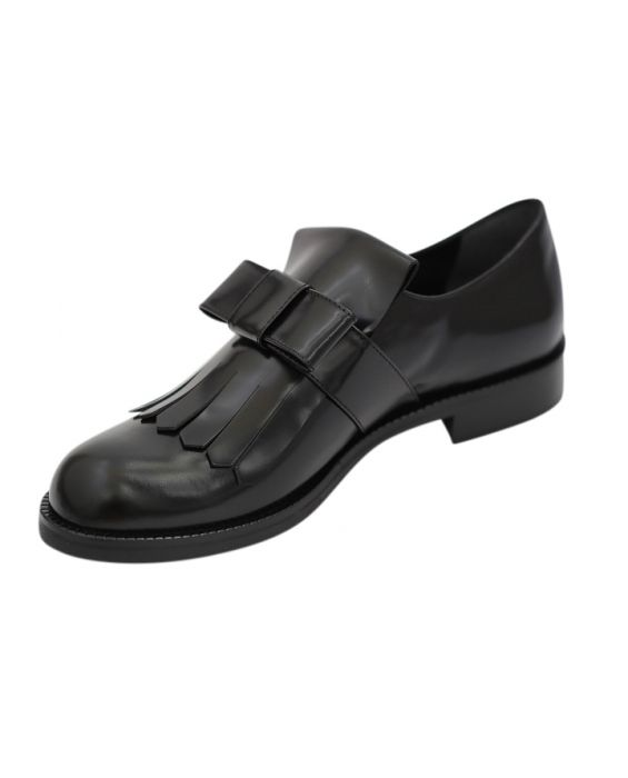 Siton 'Sophia' Polished Leather Loafers - Black