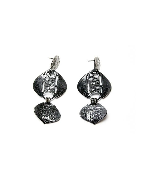 STUDIO-GI METALLIC BLACK EARRINGS