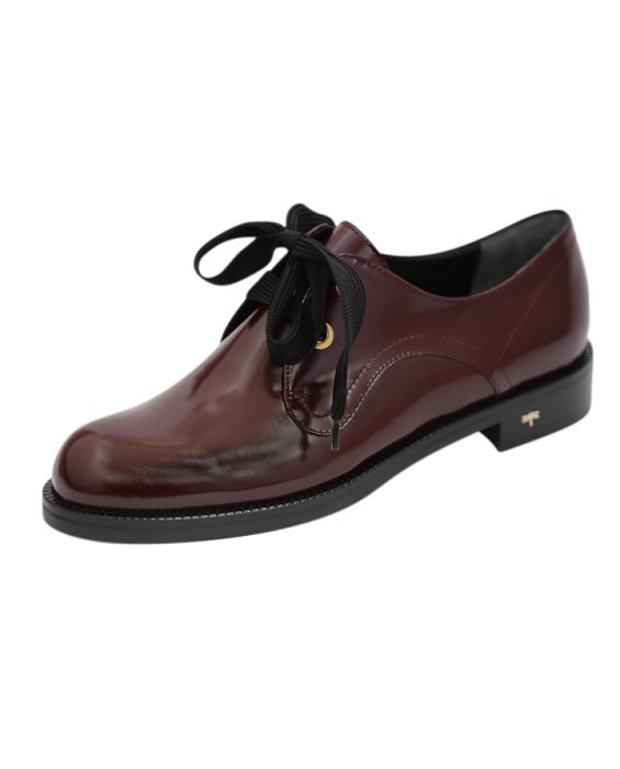 Siton 'Boyz' Polished Leather Lace-Up Oxford - Bordeaux
