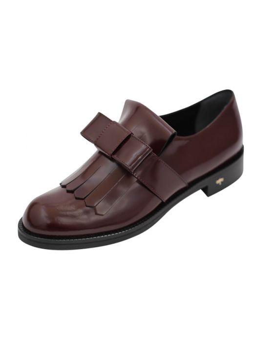 Siton 'Sophia' Polished Leather Loafers - Bordeaux
