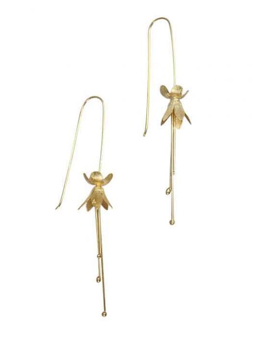 The Craftshop Sterling Silver Gold-Plated Earrings - Gold-Plated