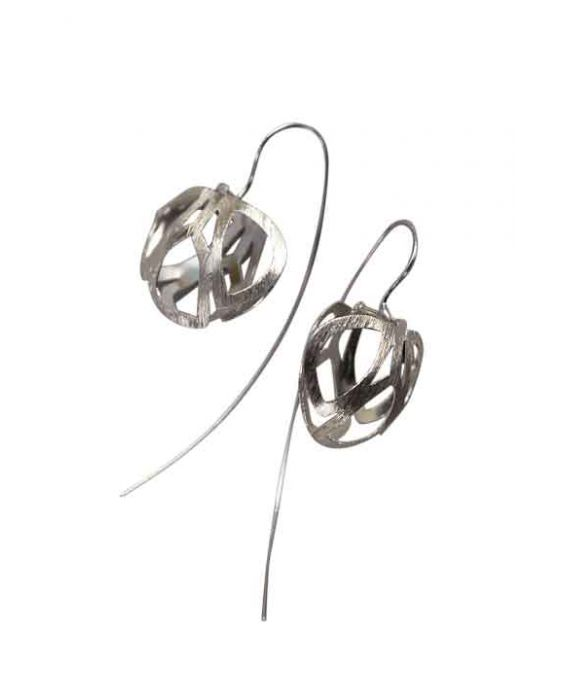 The Craftshop 'Cage' Sterling Silver Earrings - Silver