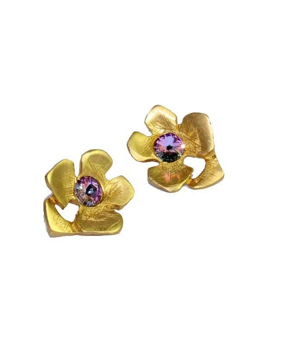 STUDIO-GI 'FLOWER' EARRINGS - GOLD