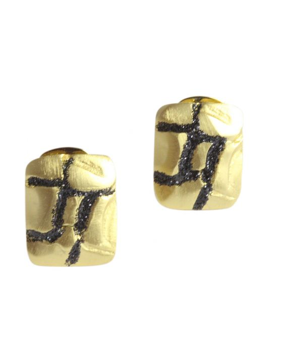 STUDIO-GI 'GLITTER' EARRING - Gold Plated
