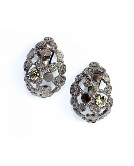 STUDIO-GI 'CLUSTER' EARRINGS - METALLIC BROWN