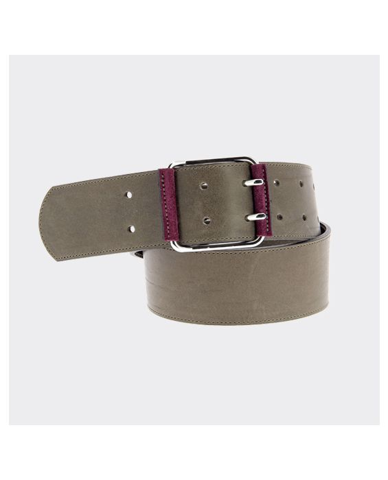 Herbert Frere Soeur 'La Baron' Leather Belt - Grey