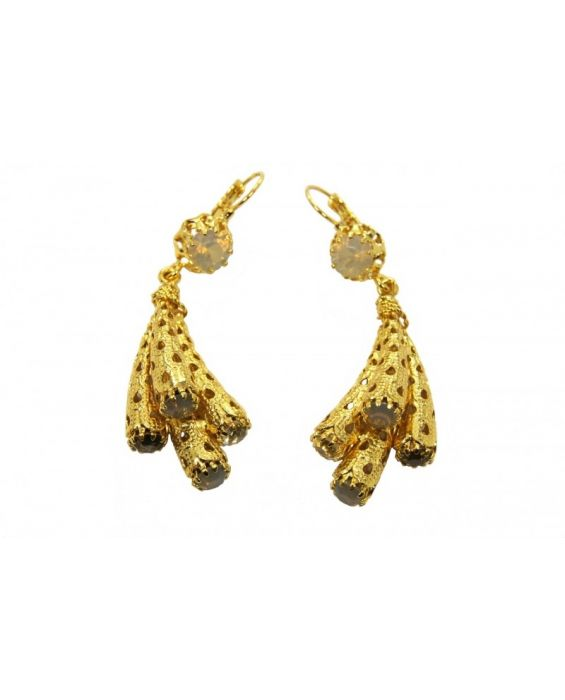 Monna Luna Brass Earrings