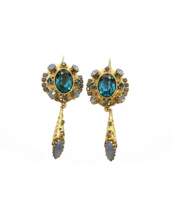 MONNA LUNA BRASS EARRINGS eeee4444