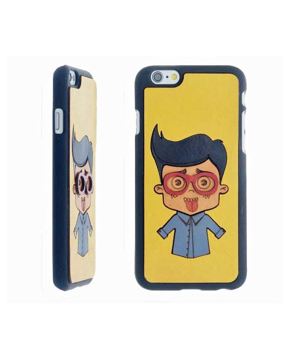Eevye 'James' Leather Phone Case - Yellow
