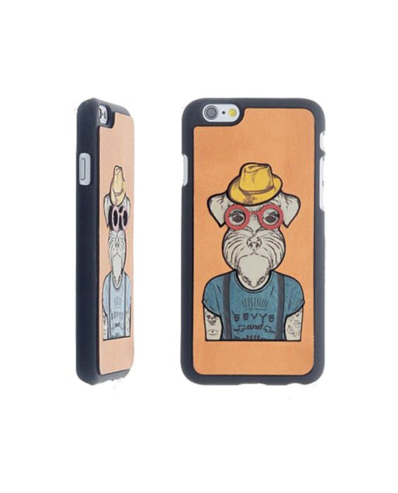 Eevye 'Greg' Leather Phone Case -  Orange
