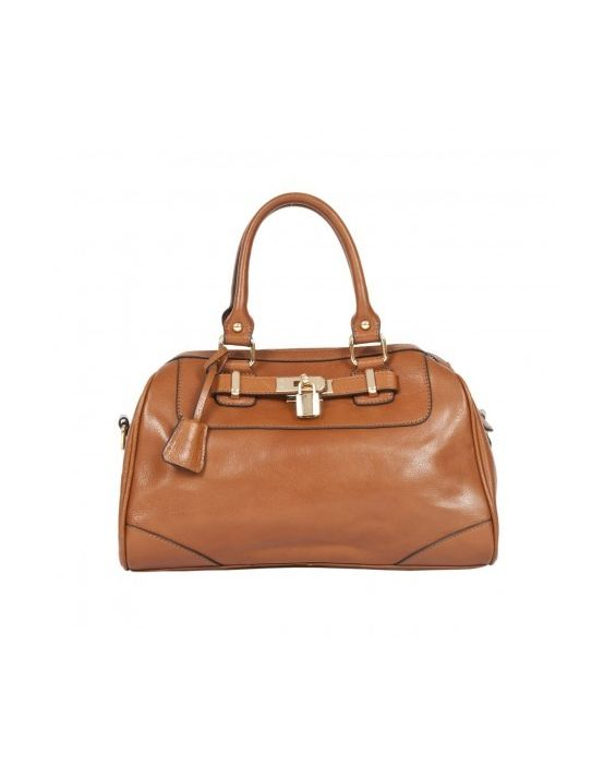 SMITH & CANOVA LEATHER SATCHEL - BROWN